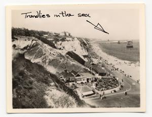 Trundlies in the sea at Durley Chine, Bournemouth