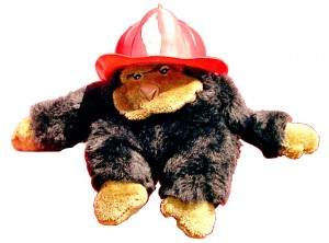 Clive as a fireman